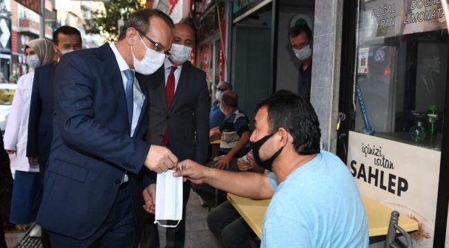 Vali Yavuz'dan maske denetimi