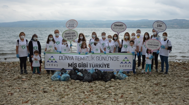 SEDAŞ gönüllülerinden dünya temizlik günü etkinliği