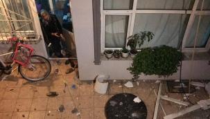 Doğal gaz patlaması apartman sakinlerine korku yaşattı