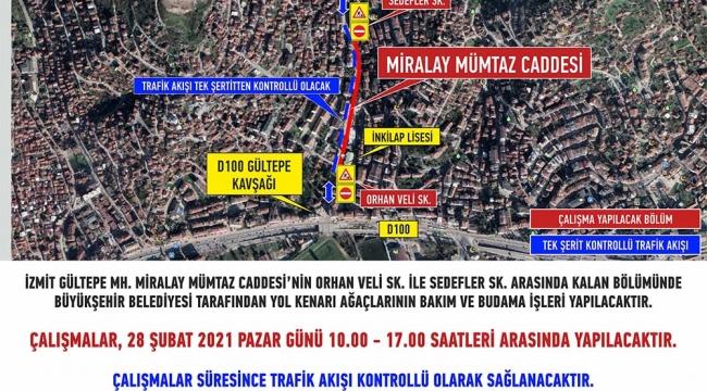 Miralay Mümtaz Caddesi'nde hafta sonu çalışması!