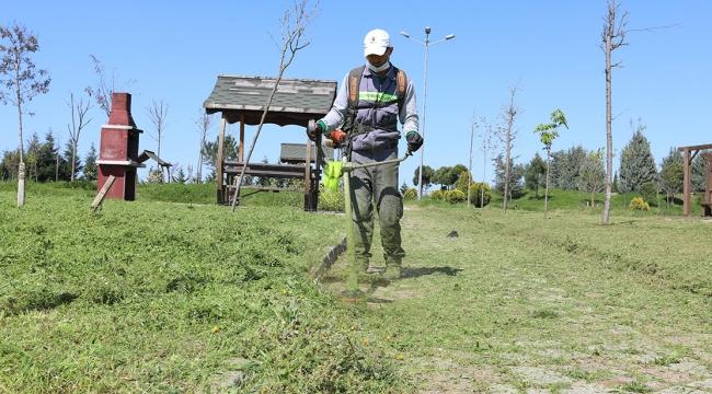 Yeşil alanlarda temizlik çalışması