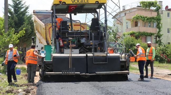 Gölcük Belediyesi 2300 ton asfalt serimi yaptı!