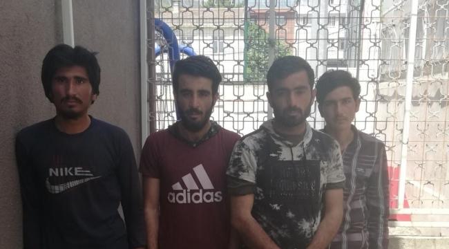 Kocaeli'de 4 kaçak Afgan yakalandı!