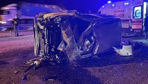 Ticari araç devrildi, 12 yaşındaki çocuk öldü
